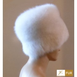 Oversized fox fur hat