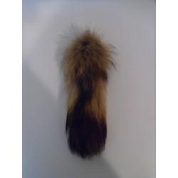Finn raccoon tail key chain