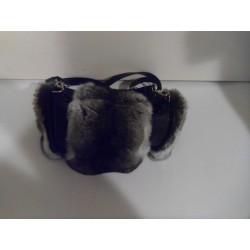 Small chinchilla fur bag