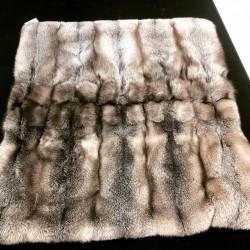 Northern Light fox fur blanket